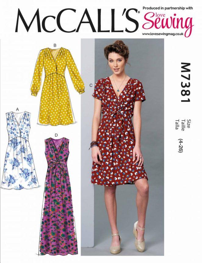 McCalls M7381 Dress Pattern Review