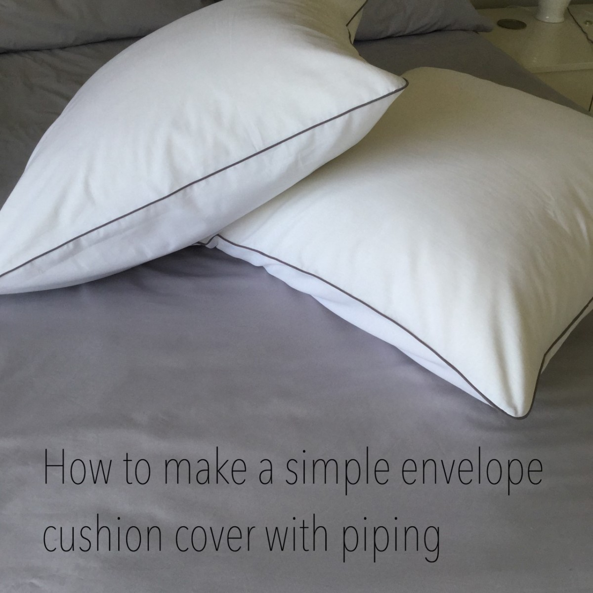how to make simple envelope cushion covers with piping. Black Bedroom Furniture Sets. Home Design Ideas