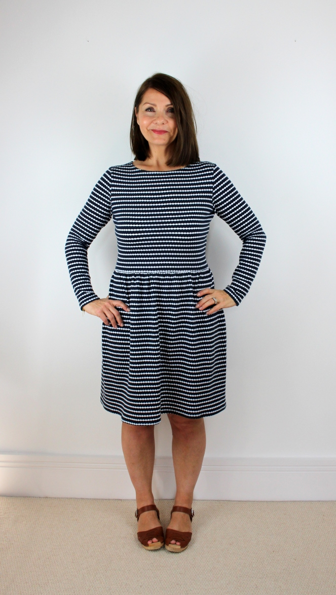 Mccalls M7561 Stripe Knit Dress Pattern Review